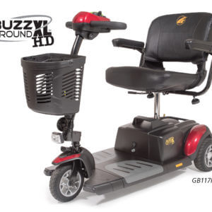 3 wheel red Buzzaround XLHD mobility scooter