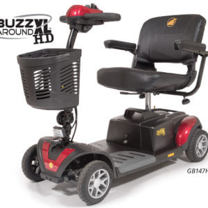 4 wheel red Buzzaround XLHD Mobility Scooter