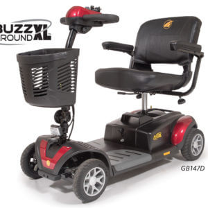 4 wheel red Buzzaround XL Mobility Scooter