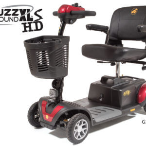 red 4 wheel Buzzaround XLSHD mobility scooter