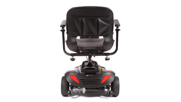 rear view of Golden Buzzaround LT 3 Wheel wide mobility scooter
