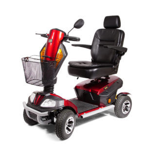 red 4 wheel Patriot Mobility Scooter