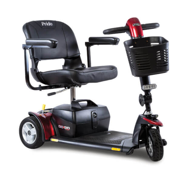 Red GoGo Sport 3 Wheel Scooter