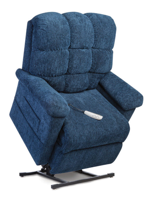 Navy Recliner in Lifted Position