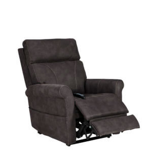 Dark Gray Recliner with Footrest Up