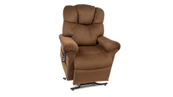 Brown Recliner In Slightly Lifted Position