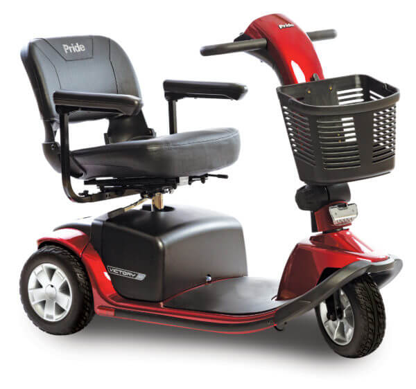 Red Victory 10 3 wheel scooter